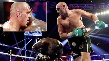 Bloody hell! Boxing fans convinced Tyson Fury LICKED Deontay Wilder's BLOOD during brutal stoppage win in Vegas rematch