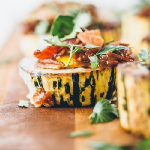 Roasted Delicata Squash with Eggs