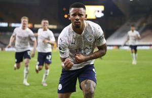 Man City makes fast start to EPL beating Wolves 3-1