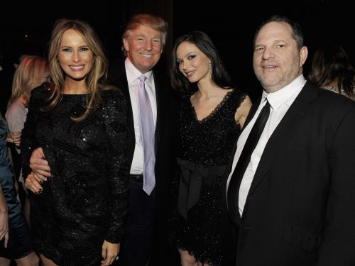 Trump says he was 'never a fan' of Harvey Weinstein despite photos of them together and uses the producer's rape conviction to attack Democrats